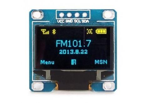 """Display OLED 0.96"""" Amarillo Azul"""