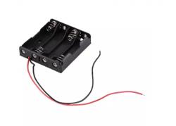 Porta pila Bateria AA X 4