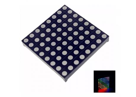 Matriz LED RGB 8x8  Dimensiones 6x6 cm Ref: 2088RGB-5 Anodo Comun