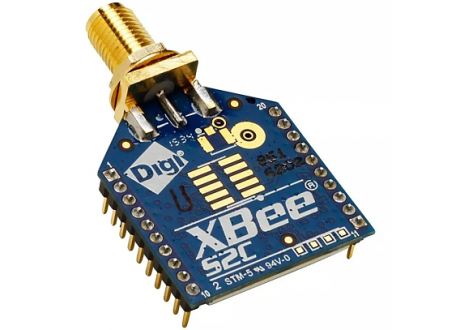 XBee S2C DigiMesh 2.4 through-hole con conector RPSMA 60 -1200 m  REF: XB24CDMSIT-001