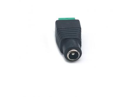Conector Jack DC Bornera para fuentes y cctv Hembra plug 2.1 mm x 5.5 mm