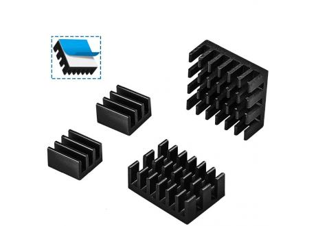 DISIPADORES DE CALOR PARA RASPBERRY Modelo 3 y 4 x 4 Unidades