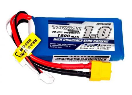 Batería LiPo Turnigy 7.4V (2S) 1000mAh  30 -40 C  XT60