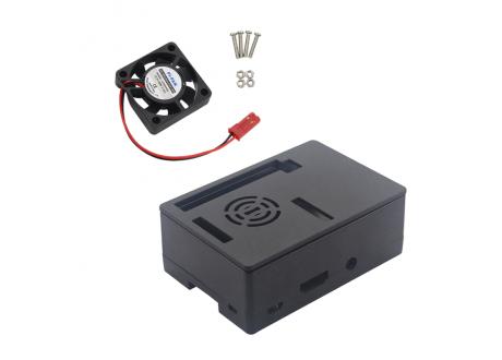 Caja de Proteccion para Raspberry Pi 3 model b+  Negra con rejilla para ventilador