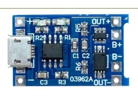 Tp4056 Modulo Usb Cargador Batería Litio 18650 Arduino