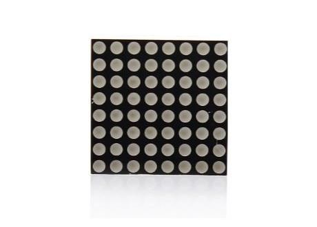 Matriz LED 8X8  32x32 mm sin Integrado UN color ROJO 2 POR 2 cm